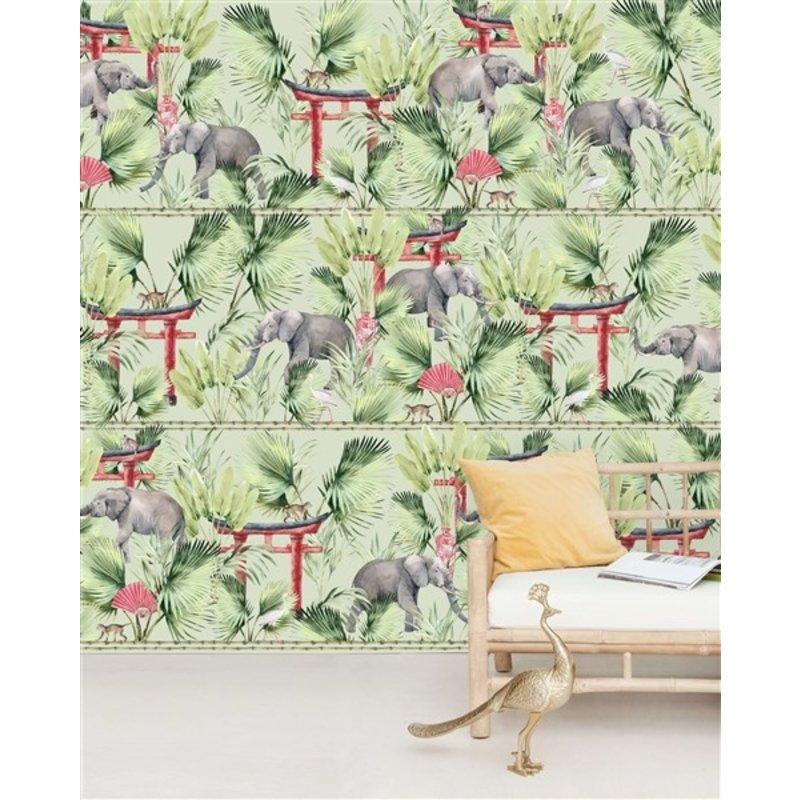 Creative Lab Amsterdam-collectie Ritual Elephant Wallpaper Mural