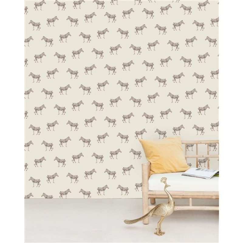 Creative Lab Amsterdam-collectie Safari Zebra Wallpaper Mural