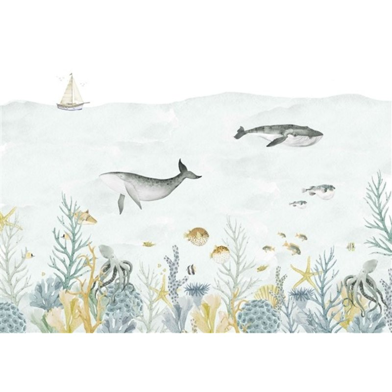Creative Lab Amsterdam-collectie Sealife Blue Wallpaper Mural
