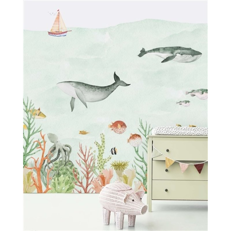 Creative Lab Amsterdam-collectie Sealife Coral Wallpaper Mural