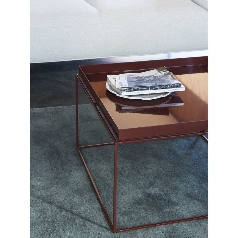 HAY-collectie Tray Table Coffee L60 x W60 Chocolate High gloss