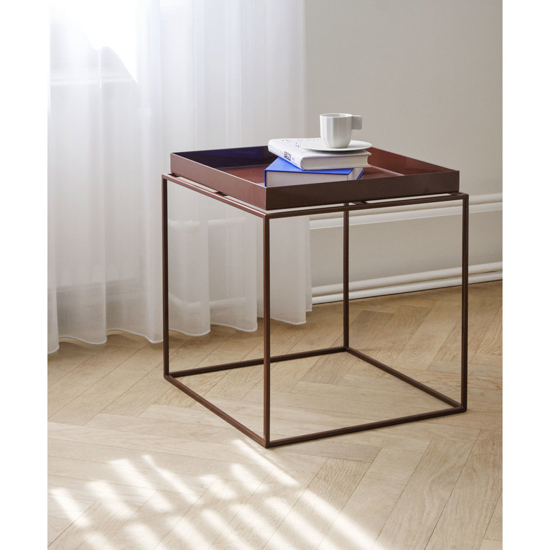 HAY-collectie Tray Table M L40 x W40 Chocolate High gloss
