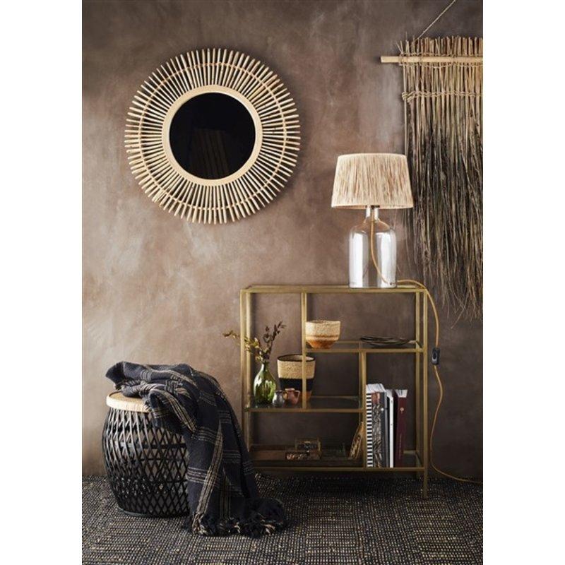 Madam Stoltz-collectie Seagrass basket natural, black, orange