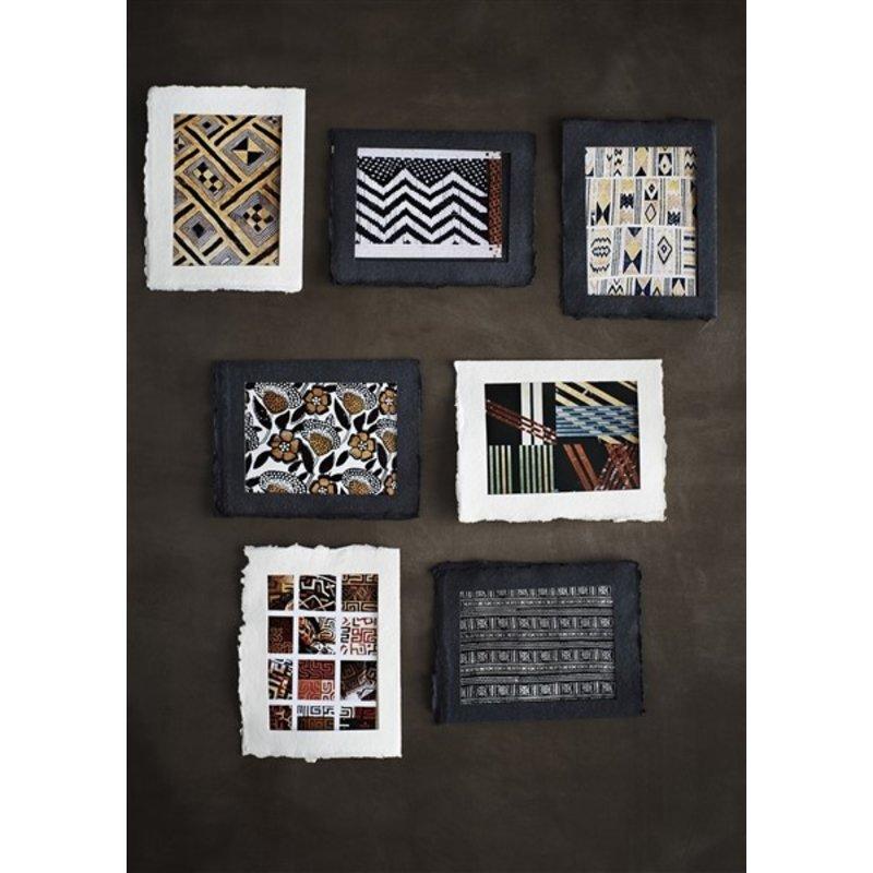 Madam Stoltz-collectie Fotolijstjes van recycled papier zwart, set van 6