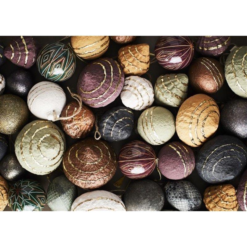 Madam Stoltz-collectie Papieren druppelvormige ballen 6 stuks