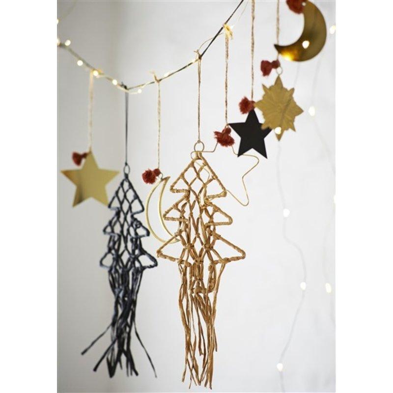 Madam Stoltz-collectie Wandhanger kerstboom naturel