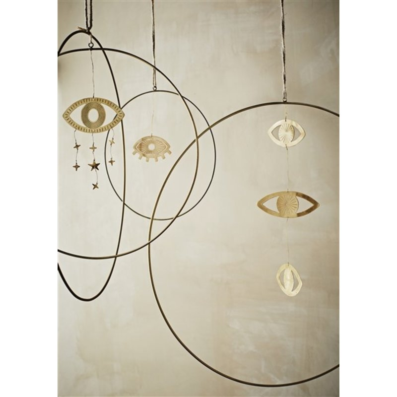 Madam Stoltz-collectie Hangornament 'Oog' met sterretjes