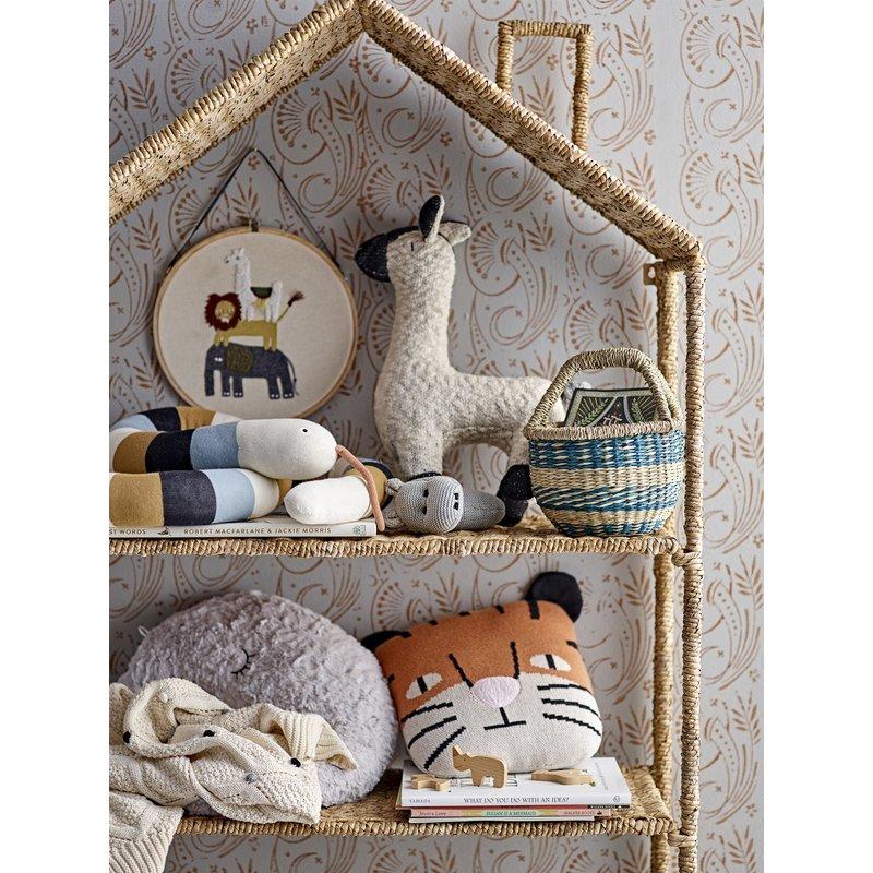 Bloomingville-collectie Wanddecoratie safari geborduurd 28 cm