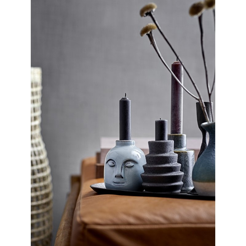 Bloomingville-collectie Candlestick, Green, Stoneware
