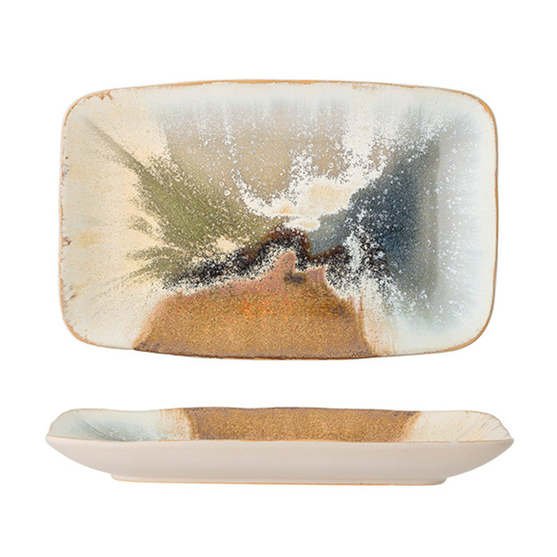 Bloomingville-collectie Willow Serving Plate, Multi-color, Stoneware