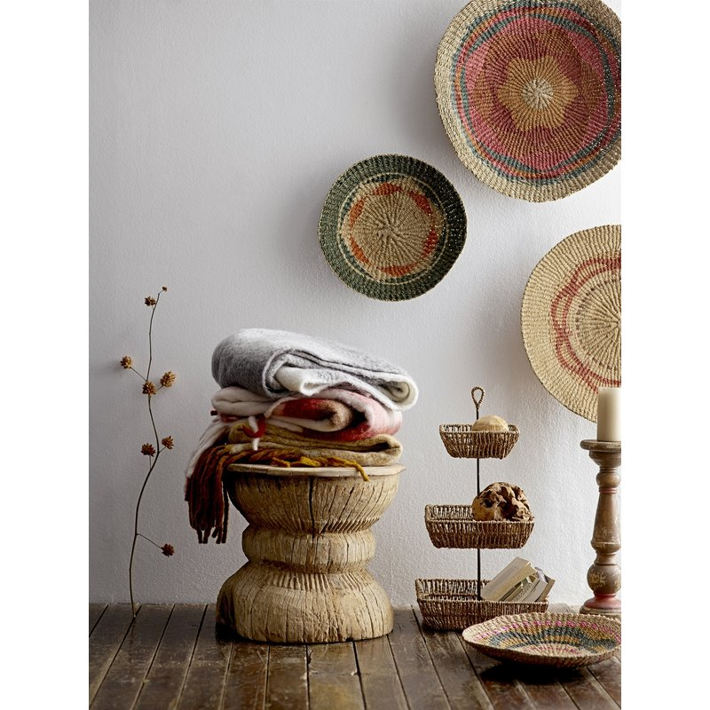 Bloomingville-collectie Wall Basket, Multi-color, Jute