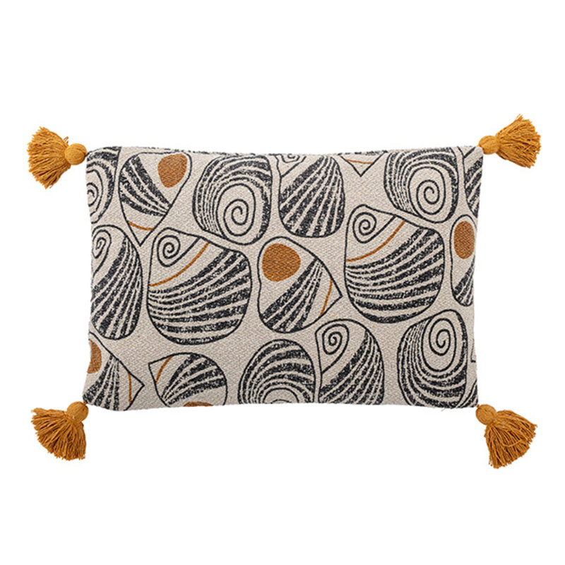 Bloomingville-collectie Cushion, Yellow, Recycled Cotton