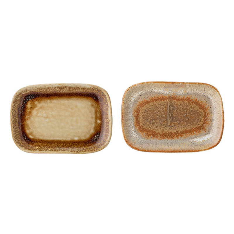 Bloomingville-collectie Willow Plate, Multi-color, Stoneware