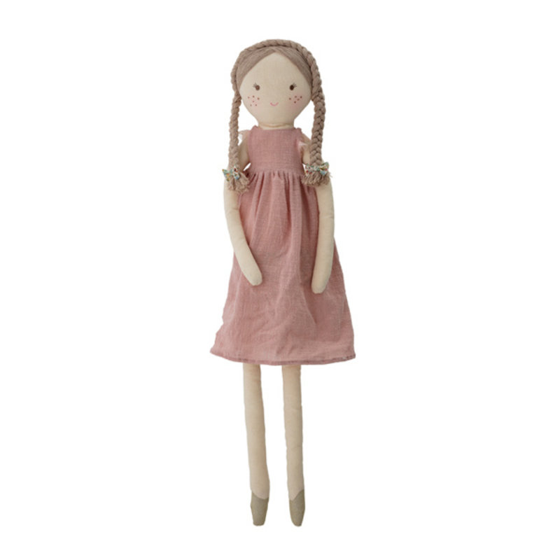 Bloomingville-collectie Lilly Soft Toy, Rose, Cotton