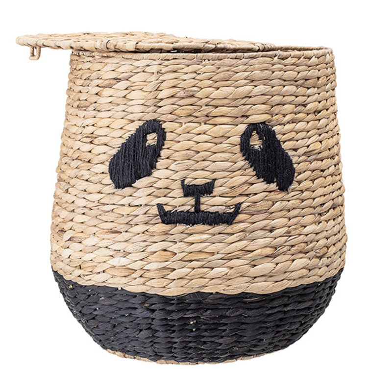 Bloomingville-collectie Basket w/Lid, Nature, Water Hyacinth