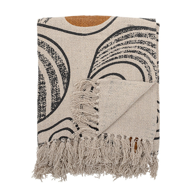 Bloomingville-collectie Throw, Nature, Recycled Cotton