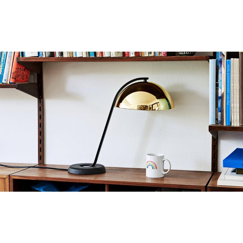 HAY-collectie Cloche lamp zwart- gepolijst messing