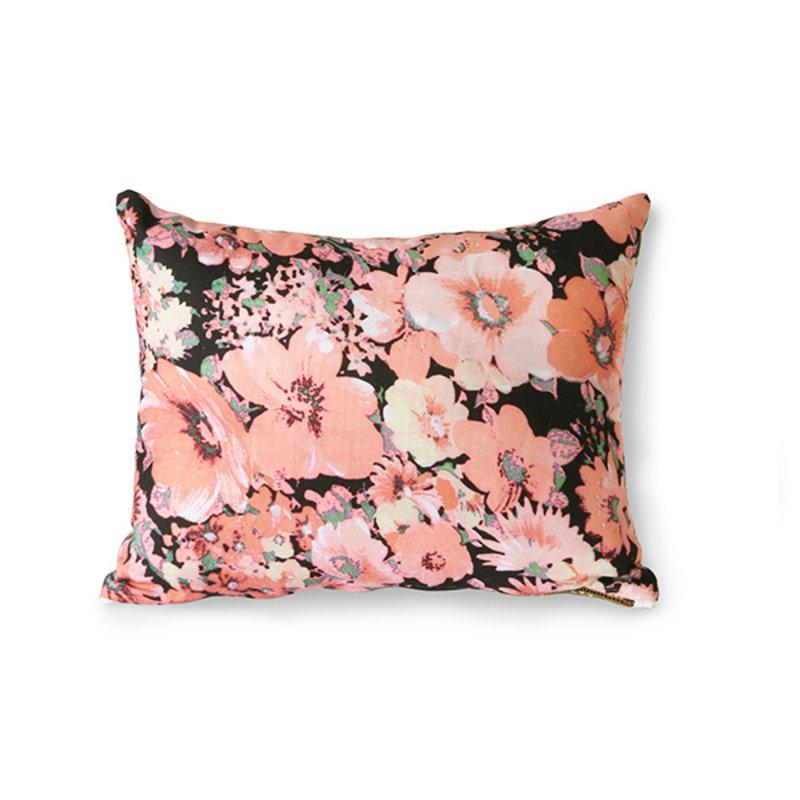 HKliving-collectie Doris kussen met Floral print roze 30x40 cm