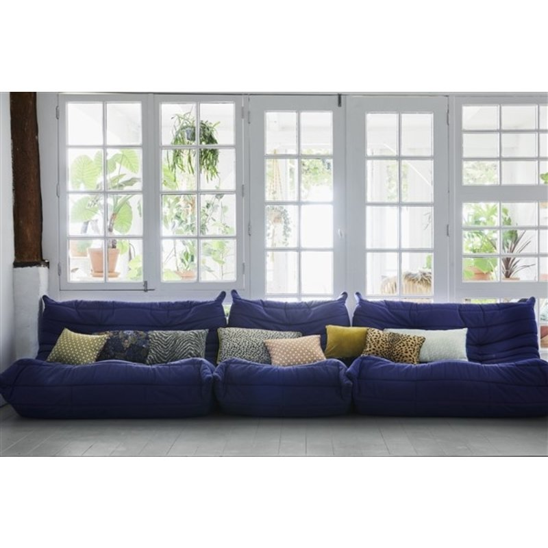HKliving-collectie doris for hkliving: printed cushion purple (30x40)