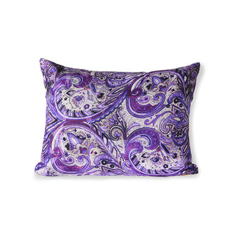 HKliving doris for hkliving: printed cushion purple (30x40)