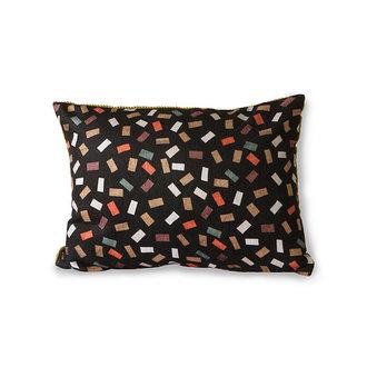 HKliving doris for hkliving: printed/rib cushion flakes (30x40)