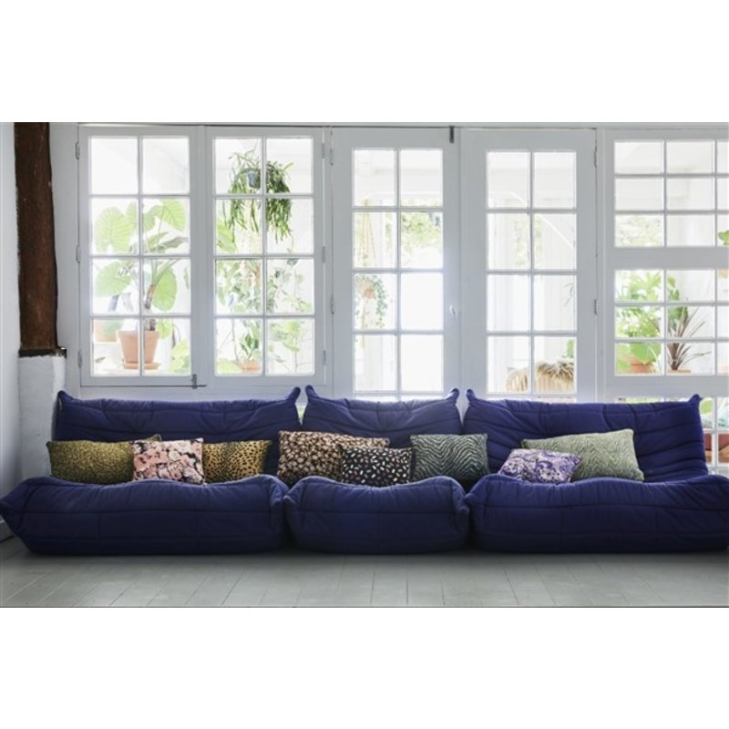 HKliving-collectie doris for hkliving: printed cushion brown (35x60)