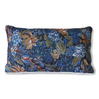 HKliving doris for hkliving: printed cushion blue (35x60)