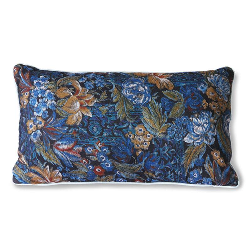 HKliving-collectie Doris kussen met Nachtblauwe print 35x60 cm