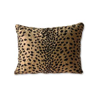 HKliving doris for hkliving: cushion flock print panther (30x40)