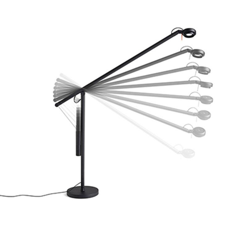 HAY-collectie Fifty-Fifty Table Lamp Bureaulamp zwart