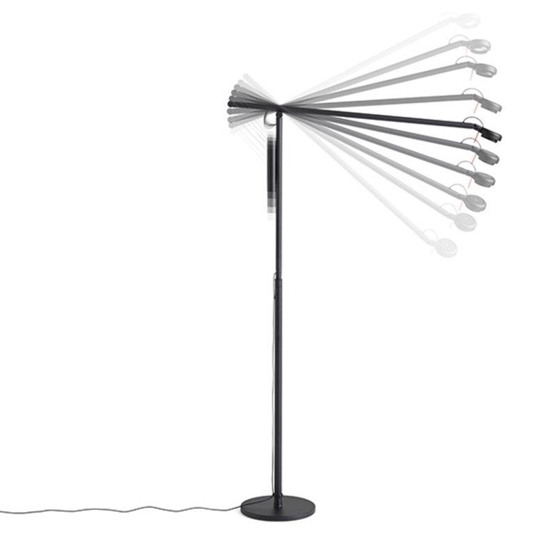 HAY-collectie Fifty-Fifty Floor Lamp Vloerlamp zwart