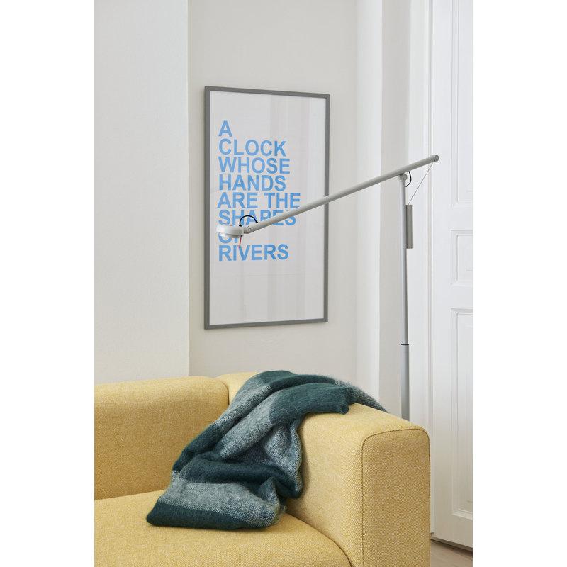 HAY-collectie Fifty-Fifty Floor Lamp Vloerlamp asgrijs