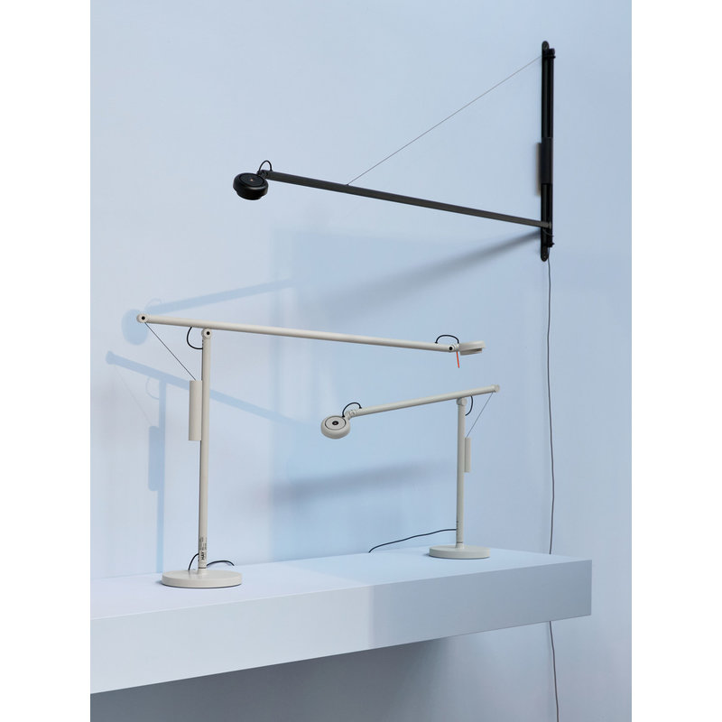 HAY-collectie Fifty-Fifty Mini Bureaulamp asgrijs