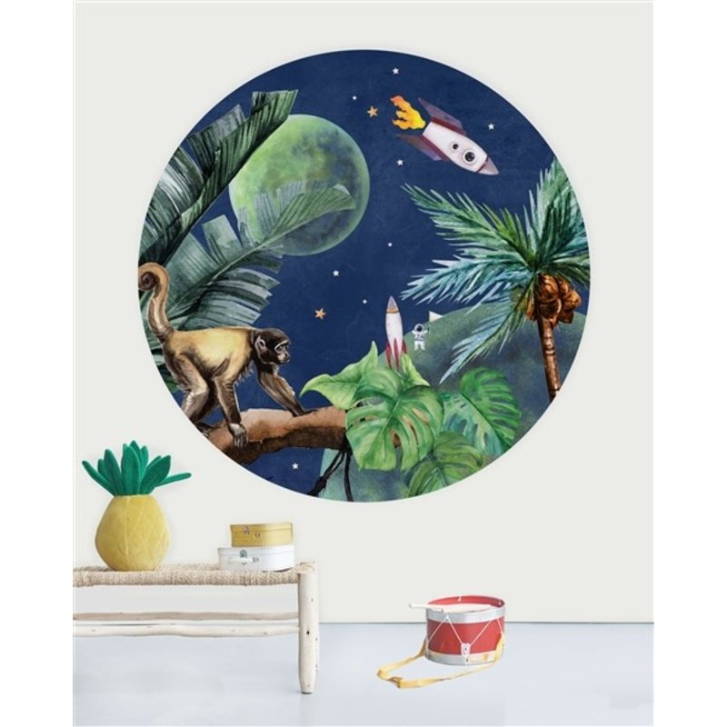 Creative Lab Amsterdam-collectie Wallpaper Circles From Jungle to Space