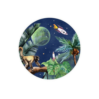 Creative Lab Amsterdam Wallpaper Circles From Jungle to Space