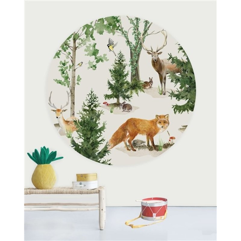 Creative Lab Amsterdam-collectie Wallpaper Circles Forest Life