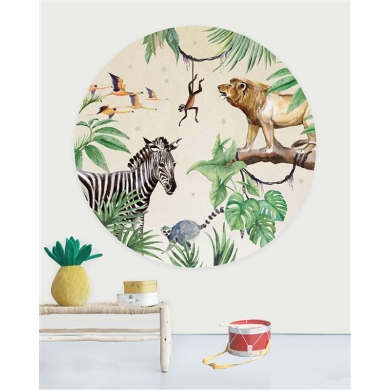 Creative Lab Amsterdam-collectie Behangcirkel King of the Jungle