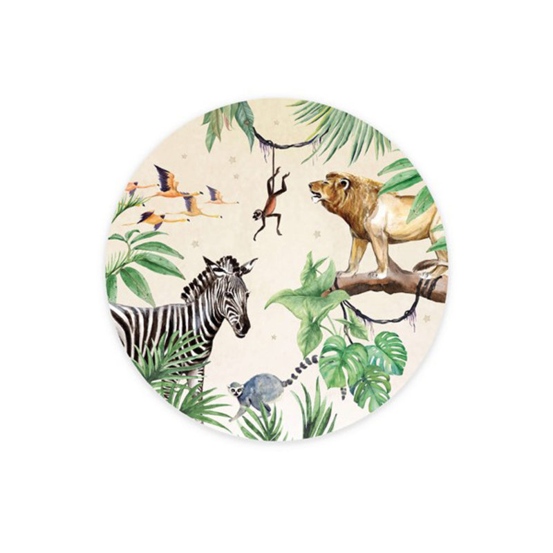 Creative Lab Amsterdam-collectie Wallpaper Circles King of the Jungle
