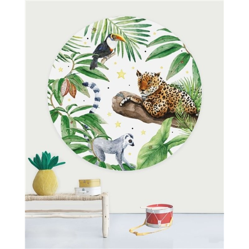 Creative Lab Amsterdam-collectie Behangcirkel Jungle Tiger