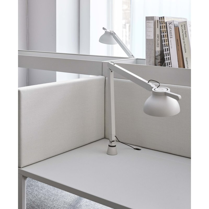 HAY-collectie PC Task Double arm Table insert asgrijs