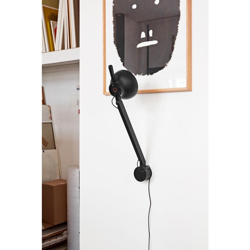 HAY-collectie PC Single arm Wall bracket zwart