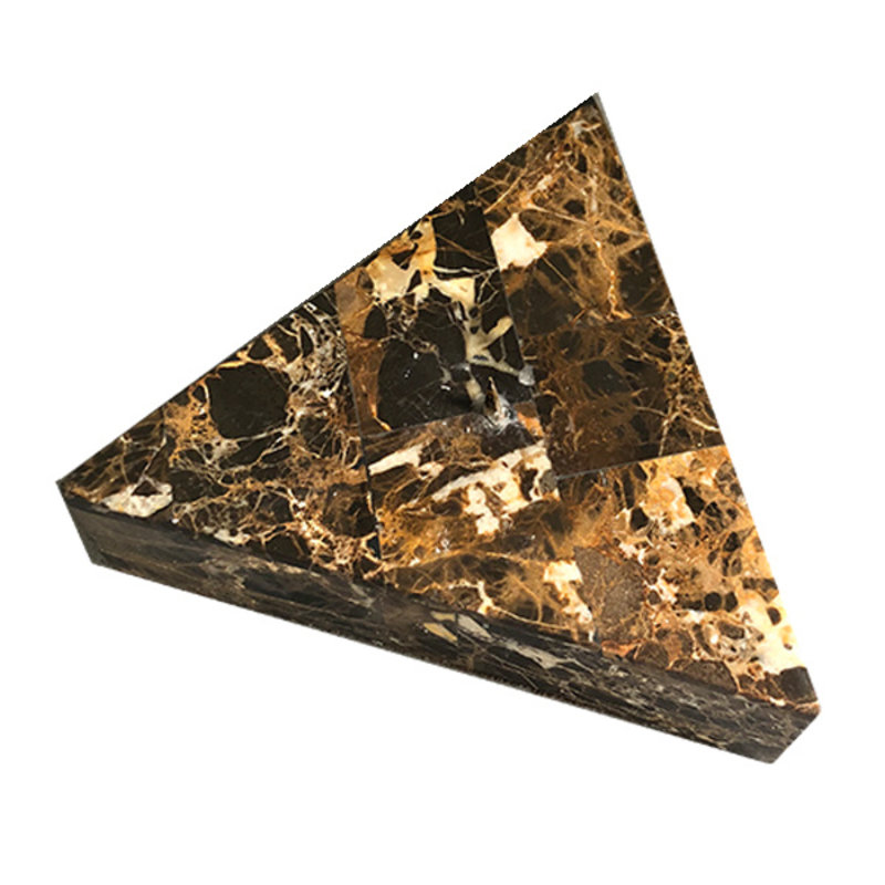 DEENS LOVES-collectie Vintage candle holder triangle marble