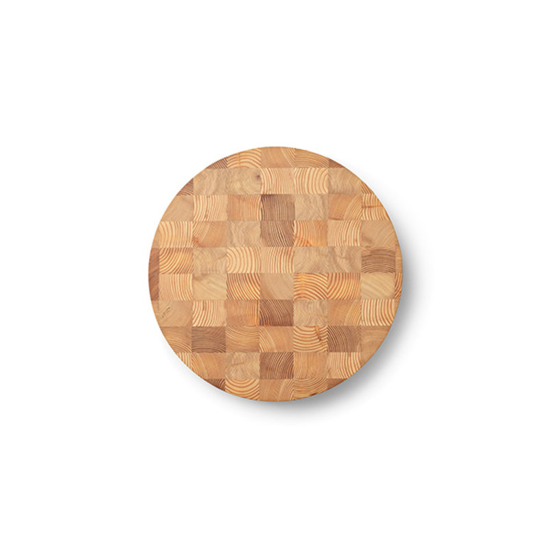 ferm LIVING-collectie Chess Cutting Board - Round Small
