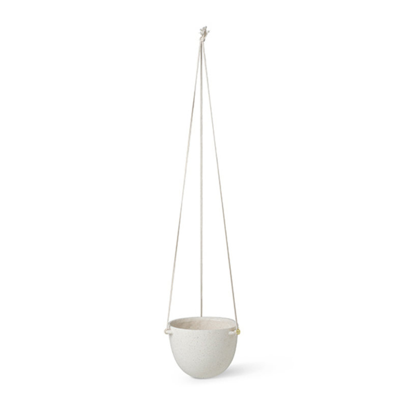 ferm LIVING-collectie Speckle Hanging Pot - Large - Off-White