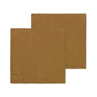 ferm LIVING Linen Napkins - Set of 2 - Cinnamon