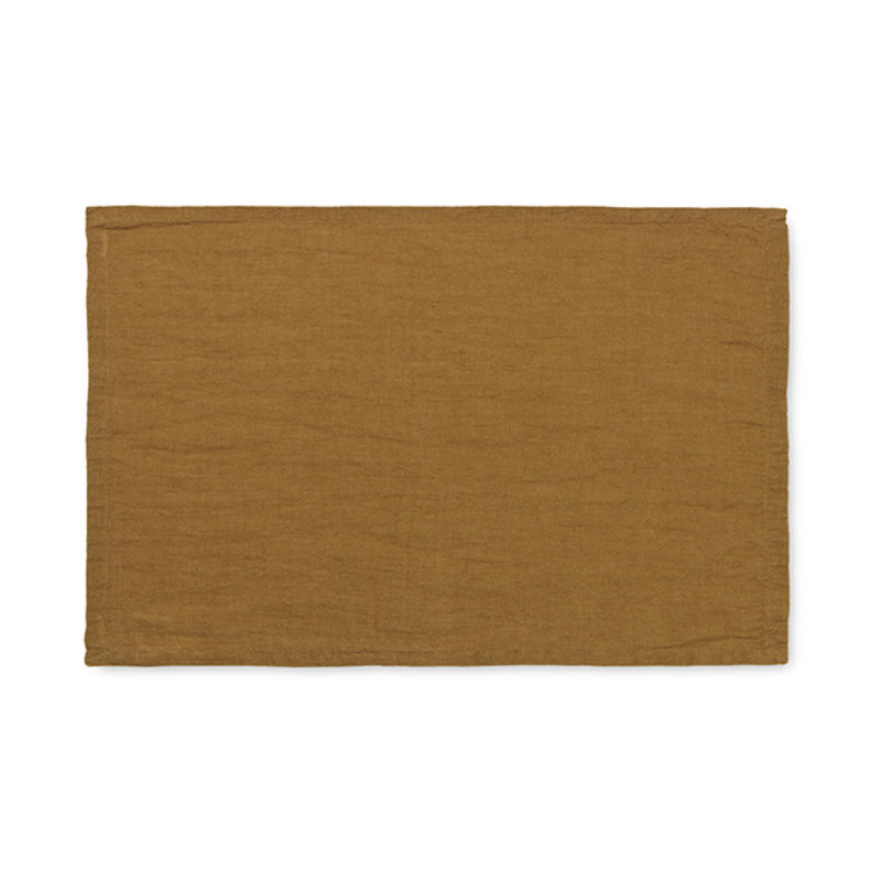 ferm LIVING-collectie Linen Placemat - Set of 2 - Cinnamon