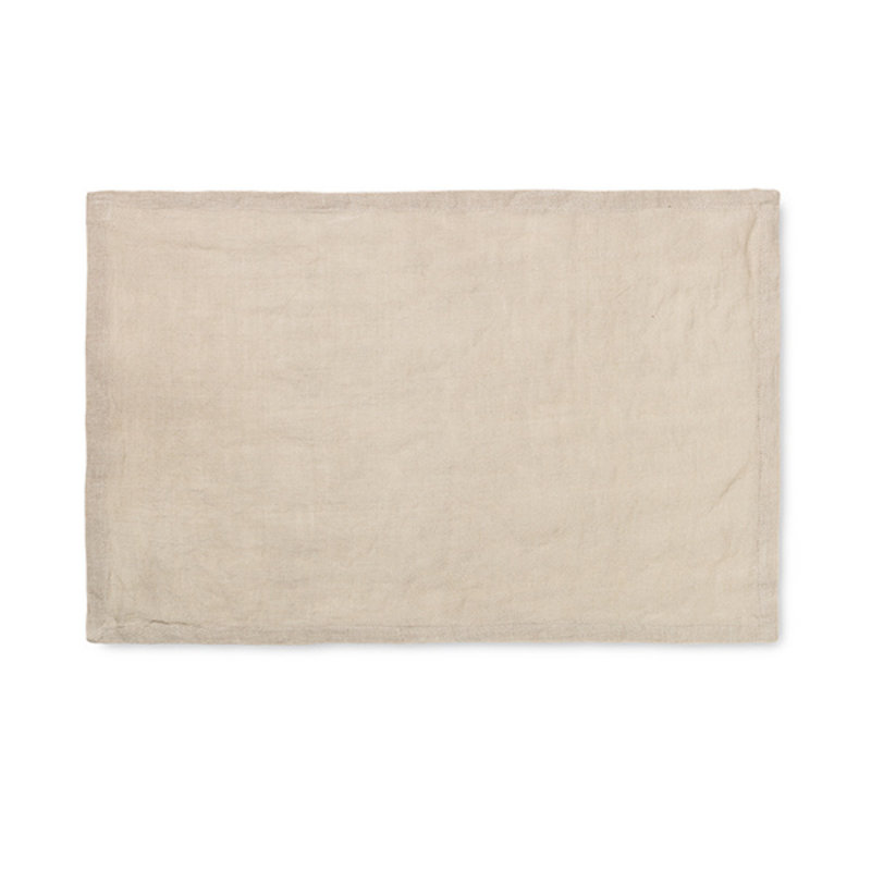 ferm LIVING-collectie Linen Placemat - Set of 2 - Natural