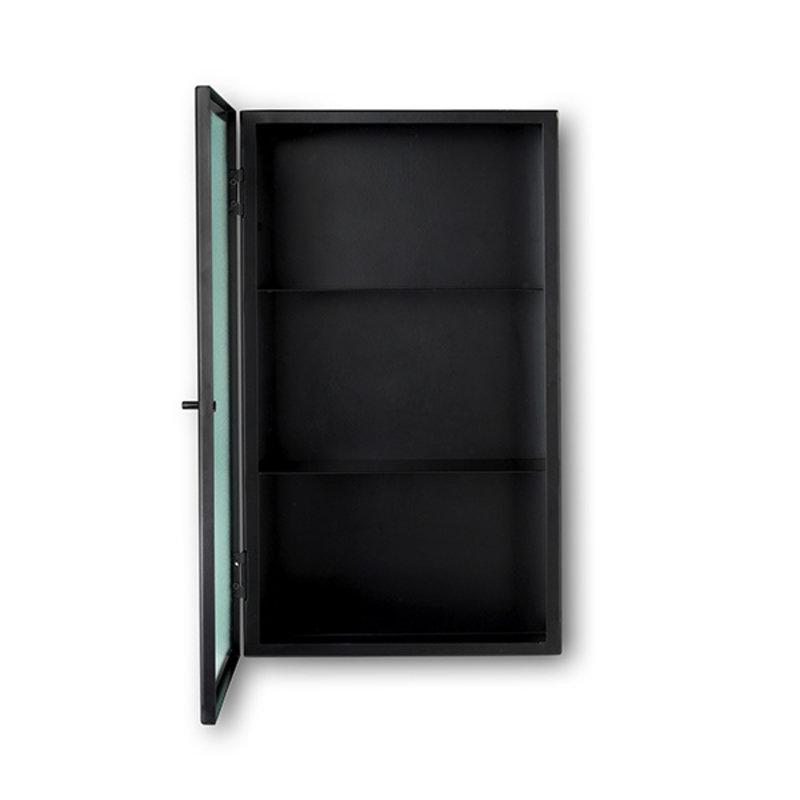 ferm LIVING-collectie Wandkast Haze draadglas zwart