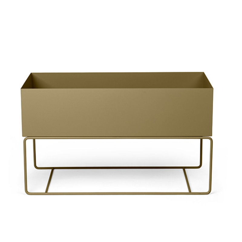 ferm LIVING-collectie Plant Box Large  olijf