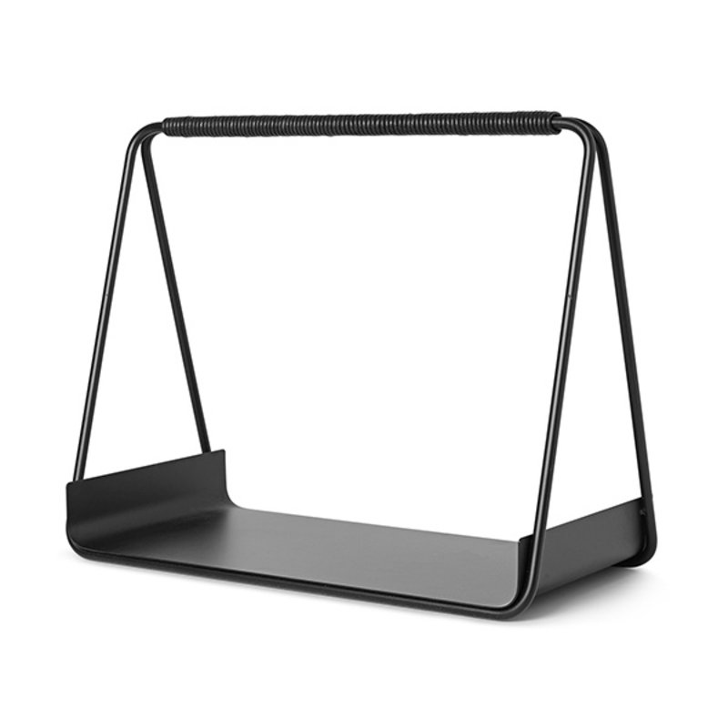 ferm LIVING-collectie Port Wood Basket - Black